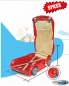 Preview: Kinderkoffer Kinder Auto Trolley Hartschalenkoffer Kindergepäck Kindertrolley Beachkoffer Grau