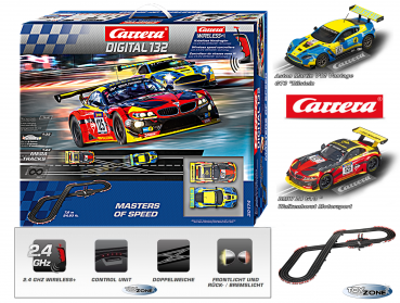 Carrera DIGITAL 132 Masters of Speed Rennbahn Slotcar