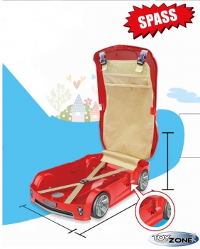 Kinderkoffer Kinder Auto Trolley Hartschalenkoffer Kindergepäck Kindertrolley Beachkoffer Blau