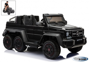 Kinderfahrzeug 12V Kinder Elektro Auto Mercedes  G63 6 x 6 Allrad Antrieb Crawler MP4 Video Touchscreen USB Ledersitz EVA Gummiräder 2,4 GHZ