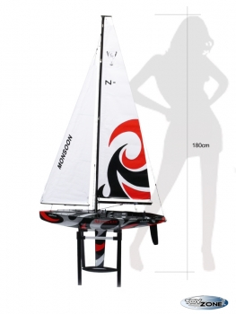 RC Segelboot Segelschiff MONSOON RTR 2,4 Ghz Regattayacht