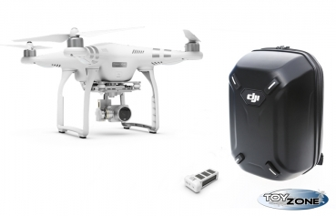 DJI Phantom 3 Advanced RTF Multikopter Drohne + Hardshell Backpack + extra Battery