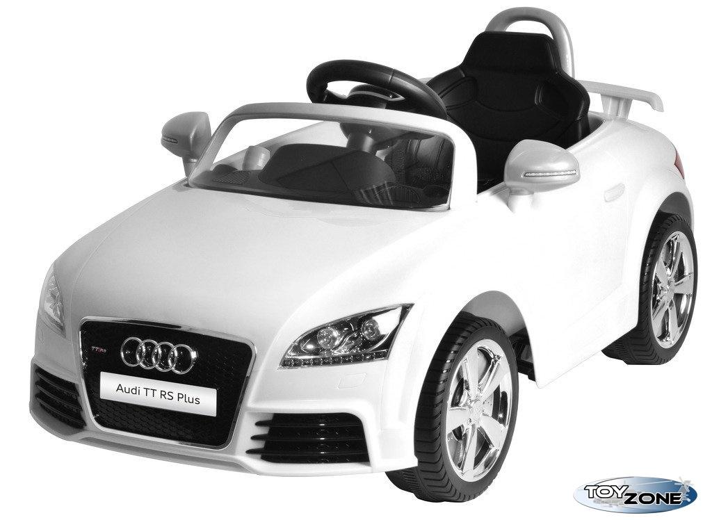 Kinderfahrzeug 12V Kinder Elektro Auto Kinderauto Audi TT RS Plus weiß RC
