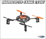 RC Quadrocopter 2.4GHZ 4 Kanal UFO Drohne Multicopter Helikopter RTF 2x Lipo